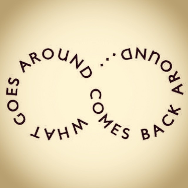 What Goes Around Comes Back Around Facebook Cover
